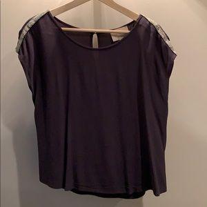 Charcoal grey blouse in medium petite